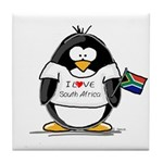 South Africa Penguin Tile Coaster