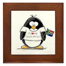 South Africa Penguin Framed Tile