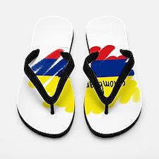 Colombiano orgulloso Flip Flops