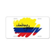 Colombiano orgulloso Aluminum License Plate