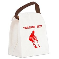 Red Hockey Player (Custom) Canvas Lunch Bag