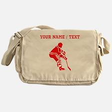 Red Hockey Player (Custom) Messenger Bag