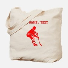 Red Hockey Player (Custom) Tote Bag
