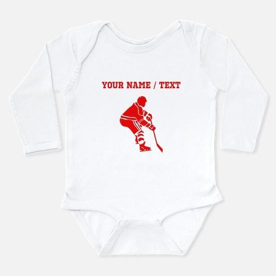 Red Hockey Player (Custom) Body Suit