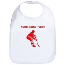 Red Hockey Player (Custom) Bib