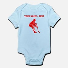 Red Hockey Player (Custom) Body Suit