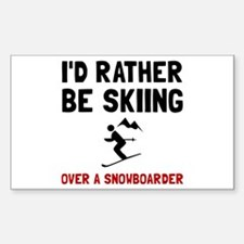 Skiing Over Snowboarder Decal