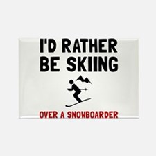 Skiing Over Snowboarder Magnets