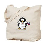 Russia Penguin Tote Bag