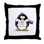 Russia Penguin Throw Pillow