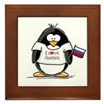 Russia Penguin Framed Tile