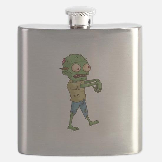 Zombie Cartoon Flask