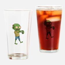 Zombie Cartoon Drinking Glass