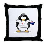 New Zealand Penguin Throw Pillow