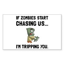 Zombies Chase Us Tripping Decal