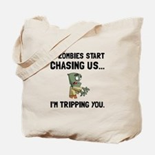 Zombies Chase Us Tripping Tote Bag