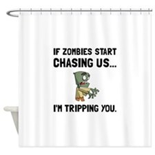 Zombies Chase Us Tripping Shower Curtain