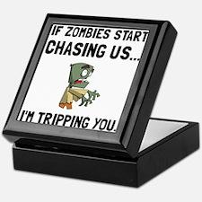 Zombies Chase Us Tripping Keepsake Box