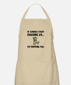 Zombies Chase Us Tripping Apron