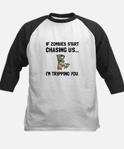 Zombies Chase Us Tripping Baseball Jersey