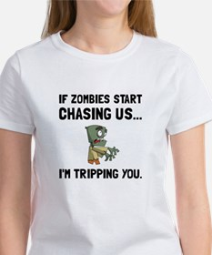 Zombies Chase Us Tripping T-Shirt