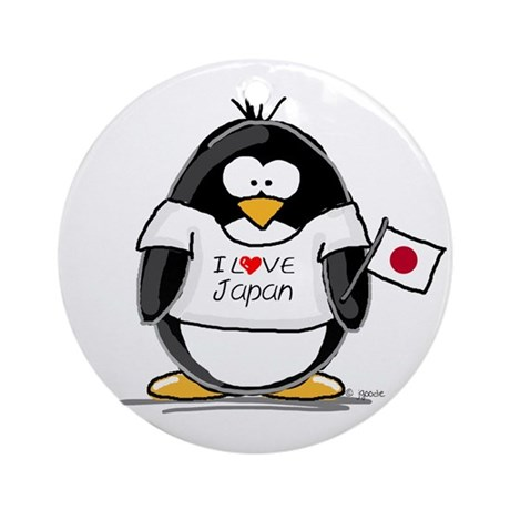 Japan Penguin Ornament (Round)