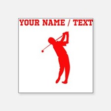 Red Golfer Silhouette (Custom) Sticker