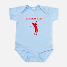 Red Golfer Silhouette (Custom) Body Suit