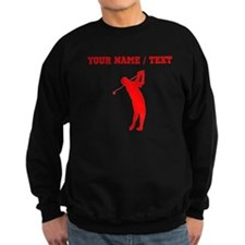 Red Golfer Silhouette (Custom) Sweatshirt