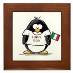Italy Penguin Framed Tile