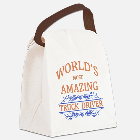 Truck Driver Canvas Lunch Bag