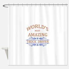 Truck Driver Shower Curtain