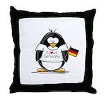 Germany Penguin Throw Pillow
