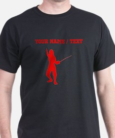 Red Fencer Silhouette (Custom) T-Shirt