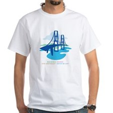 Mackinac Bridge2 White T-shirt