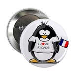 France Penguin Button