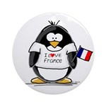 France Penguin Ornament (Round)