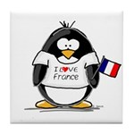 France Penguin Tile Coaster