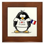 France Penguin Framed Tile