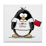 China Penguin Tile Coaster