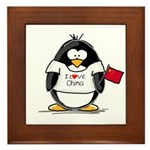 China Penguin Framed Tile