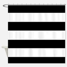 modern black white stripes Shower Curtain
