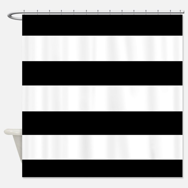 Black And White Stripe Shower Curtains | Black And White Stripe Fabric ...