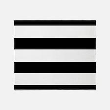 modern black white stripes Throw Blanket
