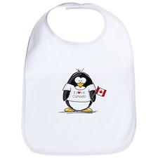 Canada Penguin Bib