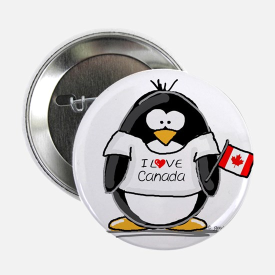 Canada Penguin Button