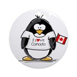 Canada Penguin Ornament (Round)