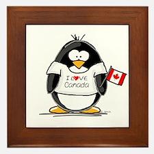 Canada Penguin Framed Tile