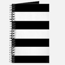modern black white stripes Journal