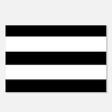modern black white stripe Postcards (Package of 8)